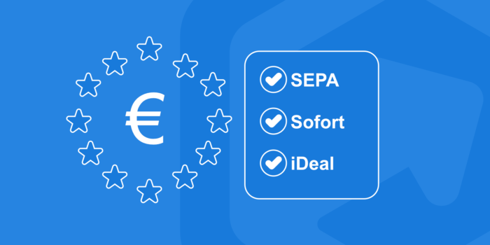 Illustration of European payment options: SEPA, Sofort, and iDeal Payments
